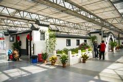 L'Asia Cina, Pechino, carnevale agricolo, centro espositivo dell'interno, ¼ Œ del buildingï di ŒAntique del ¼ dello sceneï Immagine Stock