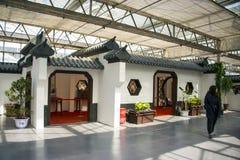 L'Asia Cina, Pechino, carnevale agricolo, centro espositivo dell'interno, edificio di ŒAntique del ¼ dello sceneï Immagine Stock Libera da Diritti