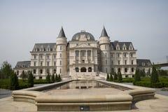 L'Asia Cina, Pechino, Expo del giardino, castello di ŒEuropean del ¼ del architectureï del giardino immagini stock libere da diritti