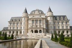 L'Asia Cina, Pechino, Expo del giardino, castello di ŒEuropean del ¼ del architectureï del giardino fotografia stock libera da diritti