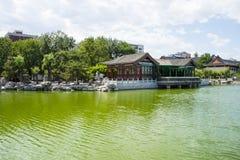 L'Asia Cina, Pechino, grande giardino di vista, giardino scenico, lago, riva Immagini Stock