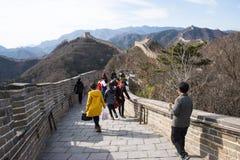L'Asia Cina, Pechino, monumenti storici, badaling la grande muraglia Fotografia Stock Libera da Diritti
