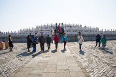 L'Asia Cina, Pechino, parco di Tiantan, monumenti storici, altare Fotografie Stock Libere da Diritti