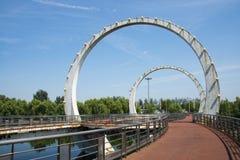 L'Asia Cina, Pechino, ponte della città Immagine Stock