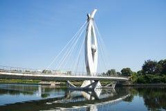 L'Asia Cina, Pechino, ponte della città Fotografie Stock Libere da Diritti