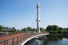 L'Asia Cina, Pechino, ponte della città Fotografie Stock