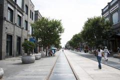 L'Asia, Cina, Pechino, via di Qianmen, via commerciale, via della passeggiata Fotografia Stock