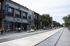 L'Asia, Cina, Pechino, via di Qianmen, via commerciale, via della passeggiata Immagini Stock