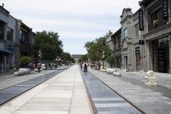 L'Asia, Cina, Pechino, via di Qianmen, via commerciale, via della passeggiata Immagine Stock Libera da Diritti