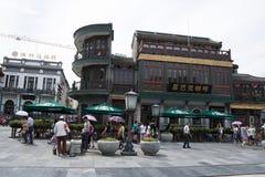 L'Asia, Cina, Pechino, via di Qianmen, via commerciale, via della passeggiata Immagini Stock Libere da Diritti
