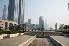 L'Asia Cina, Tientsin, parco di musica, architettura del paesaggio Immagine Stock Libera da Diritti