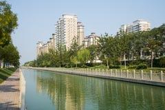 L'Asia Cina, Tientsin, Wuqing, zona residenziale urbana Fotografie Stock Libere da Diritti