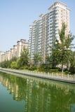 L'Asia Cina, Tientsin, Wuqing, zona residenziale urbana Immagini Stock