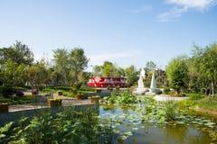 L'Asia Cina, Wuqing, Tientsin, Expo verde, paesaggio del parco Fotografia Stock Libera da Diritti