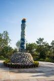 L'Asia Cina, Wuqing Tientsin, Expo verde, palo di totem Immagini Stock