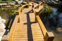 L'Asia Cina, Wuqing, Tientsin, Expo verde, strada di legno della plancia Fotografia Stock
