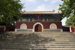 L'Asia, cinese, parco di Pechino, Beihai, costruzioni antiche, tempie, portone, Fotografia Stock