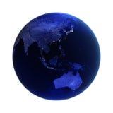 L'Asia e l'Australia su bianco Immagine Stock