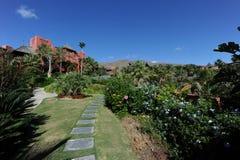 L'Asia fa il giardinaggio hotel, Benidorm, Spagna Fotografia Stock Libera da Diritti