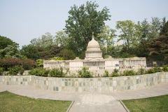 L'Asia il Campidoglio di Cina, Pechino, il paesaggio di ŒMiniature del ¼ del parkï del mondo, Stati Uniti Fotografia Stock Libera da Diritti