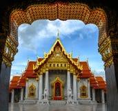 L'Asia, il tempio di marmo (Wat Benchamabophit), Bangkok, Tailandia Fotografia Stock Libera da Diritti