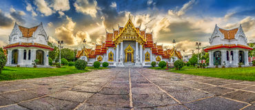L'Asia, il tempio di marmo (Wat Benchamabophit), Bangkok, Tailandia Fotografia Stock