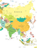 L'Asia - mappa - illustrazione Fotografia Stock