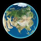 L'Asia sulla terra del pianeta Fotografia Stock