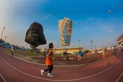 L'Asia Tailandia al di sotto di un pallone Fotografia Stock Libera da Diritti