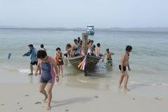 L'ASIA TAILANDIA PHUKET RAWAI Fotografie Stock