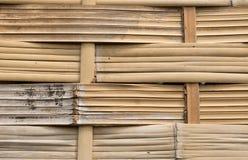 L'asiatico handcraft del recinto di bambù del tessuto Fotografia Stock