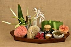 L'asiaticum de Crinum, gel vert de feuilles ont la médecine de propriété Photographie stock libre de droits