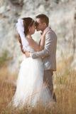 L'Asiatique couple des photos d'épouser pré le concept de l'amour et du mariage Images stock