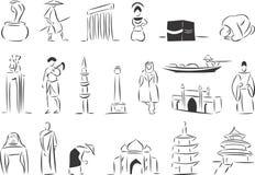 l'Asie Images libres de droits