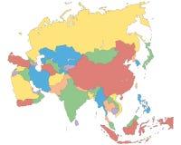 L'Asie - carte politique de l'Asie illustration de vecteur