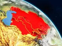 L'Asie centrale de l'espace illustration libre de droits