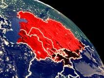 L'Asie centrale de l'espace illustration stock