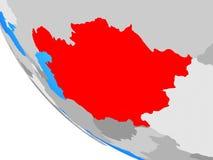 L'Asie centrale sur le globe illustration de vecteur