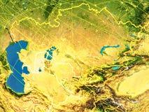L'Asie centrale sur terre illustration de vecteur