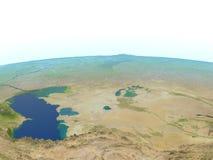 L'Asie centrale sur terre de planète Photo stock