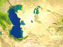L'Asie centrale sur terre de planète Photographie stock libre de droits