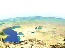 L'Asie centrale sur terre de planète Photos libres de droits