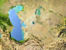 L'Asie centrale sur terre de planète Images libres de droits