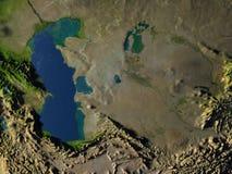 L'Asie centrale sur terre de planète Photo libre de droits