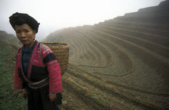 L'ASIE CHINE GUANGXI LONGSHENG Image stock