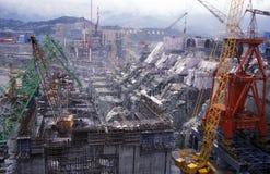 L'ASIE CHINE LE FLEUVE YANGTZE Image libre de droits