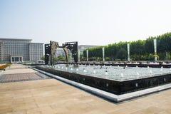 L'Asie Chine, le Wuqing Tianjin, la porte culturelle de conversion de parc, de place, d'espace et de temps Photographie stock