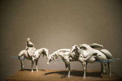 L'Asie Chine, Pékin, Chine Art Museum, lac Œsilent de ¼ de Sculptureï Image stock