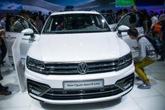 L'Asie Chine, Pékin, exposition d'automobile de l'international 2016, hall d'exposition d'intérieur, Volkswagen, une nouvelle gén photographie stock