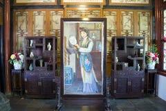 L'Asie Chine, Pékin, jardin grand de vue, d'intérieur, un rêve des manoirs rouges, la scène de caractères Photos stock
